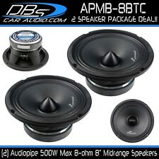 "2 Audiopipe APMB-8BTC 8"" Midrange Speaker 1000 Watt 8ohm Loud Bullet Loudspeaker"