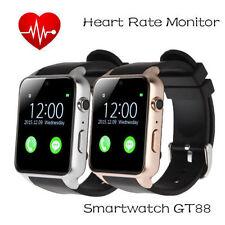 GT88 Bluetooth SmartWatch Phone Mate Schrittzähler Pulsmesser für iPhone Samsung