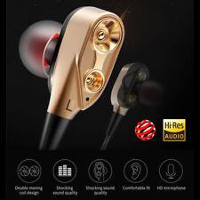 Super Bass 3.5mm In-ear Stereo Earphone Headset Earbuds  w/Mic For Smart Phone