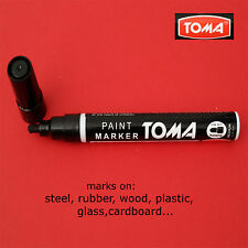 BLACK PERMANENT MARKER WATERPROOF OIL BASED PAINT glass, rubber, wood, plastic