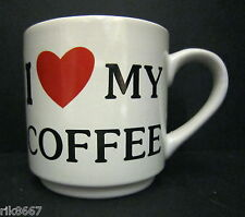 Virtually a Pint Pot or Mug I Love My Coffee Stoneware