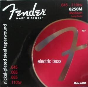 Fender 8250M Niquelado Taperwound Bajo Cuerdas, Mpn 073-8250-406