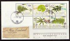 NEW ZEALAND 2013 FERNS MINIATURE SHEET FINE USED