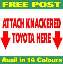 4x4 accessories ute patrol bullbar ATTACH KNACKERED winch Funny Stickers 200mm