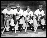 1949 Brooklyn Dodgers Photo 8X10 - Robinson Reese Campanella Hodges
