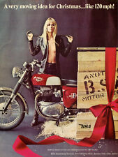1967 BSA SPITFIRE MKIII VINTAGE MOTORCYCLE AD POSTER PRINT 24x18