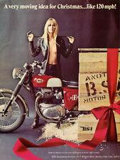 1967 BSA SPITFIRE MKIII VINTAGE MOTORCYCLE AD POSTER PRINT 48x36 BIG!