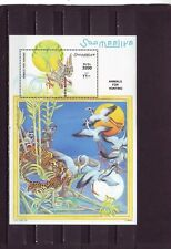 a119 - SOMALIA - 1999 MNH ANIMALS FOR HUNTING - TIGERS CHASING BIRDS