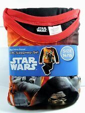 Newest New Boys Star Wars 2 piece Flannel Pajamas Sleepwear Set Size 14/16 14 16