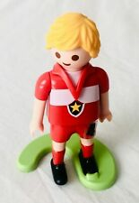 Playmobil Football Player Figure with Stand - Fast Dispatch, Good Condition