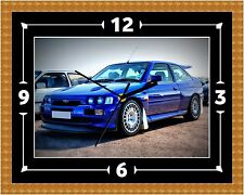 Ford Escort Cosworth Clock Gift Present Christmas Birthday (Can Be Personalised)