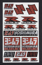 Yoshimura autocollant d'échappement métallique feuille d'autocollants set 19 SUZUKI GSXR chaleur preuve