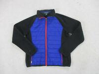 Ralph Lauren Jacket Womens Large Blue Black Outdoors Full Zip Coat Ladies *