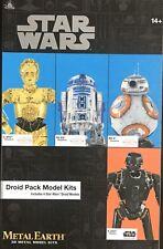 STAR WARS DROID PACK MODEL KITS BY METAL EARTH 3D METAL MODEL KITS NEW