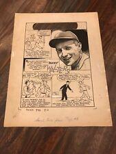 Smash Comics June 1940 Gill Fox Original Illustration Bucky Walters SPORTRAITS
