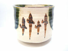 """Japanese Vintage Ceramic mei """"小老園 syourouen """" Prunus mume Yarn Bowl Knitting Cup"""