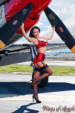 Wings of Angels Malak Pin Up Jenn Rox II WWII P-51D Mustang