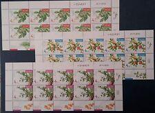 Israel 2017 Aromatic plants.Set of 3 irregular 10 stamp-sheets MNH