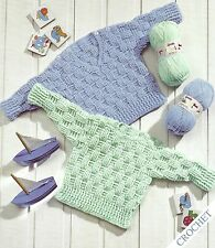 PREMATURE BABY CHILDS DOLLS 12/22 INCH SWEATERS CROCHET PATTERN BY EMAIL (1099)