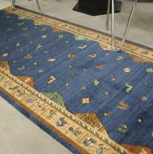 "SALE ! Teppich Läufer ""AW KELIM Blau SDR"" 67x250 cm Velours NEU"