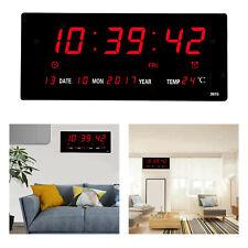 Digital Clock, Large LED Word Display Digital Wall Clock, 12/14H Digital Alarm