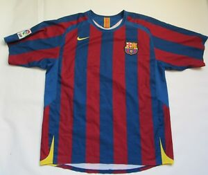 FC BARCELONA home jersey shirt NIKE BARCA 2005-06 Blaugrana trikot adult SIZE L