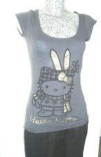 t tee shirt HELLO KITTY taille XS 34 36 14 16 ans maillot haut fille girl top