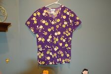 Sb Scrubs Top Purple With Apples S/Ch