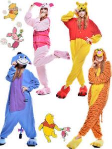 Unisex Adult Winnie The Pooh Flannel Onesie11 Cosplay Costume Kigurumi Pajamas B
