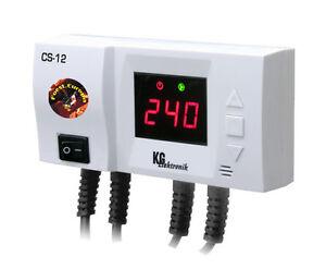 Temperatur Differenzregler CS-12 f. Pumpe v. Kessel u. Puffer Warmwasserspeicher