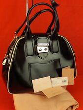 cd8ef74afa2 MIU MIU Prada Black Vitello Lux Leather 2x Zip Satchel Bowling Shoulder Bag