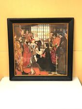 Erasmus and Thomas More Visit The Children of King Henry VII, Framed Lithograph