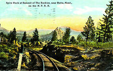 """Mt Montana: """"Spire Rock, Summit of Rockies"""" Posted Ct Divided-back Card"""