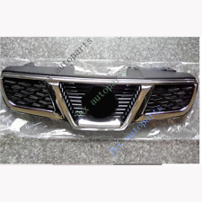 For Nissan Qashqai 2008-14 Chrome Front Bumper Center k Grille Grill With LOGO