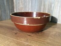 Antique Primitive Stoneware Bowl Crock Pottery Large Size G5