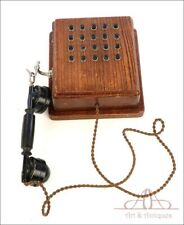 Antique Internal Wodden Telephone for Factory. Complete. Circa 1900
