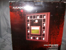 maxfli 23 ball display cabinet with frame NEW!!
