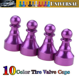 Car Tire Tyre Purple Wheel Air Port Dust Cover Trim Ventil Valve Stem Caps US