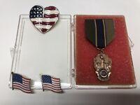 LOT of 4 Pins, (3) American Flag Lins, (1) American Legion Pin