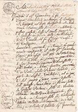 * 1850 Florence document & CACHET-Italie-Italien États-Firenze
