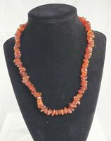 Vintage Natural Red Baltic Amber Chip Bead Necklace