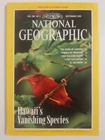 National Geographic Vol.188 No. 3 September 1995 Hawaii's Vanishing Species