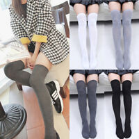Sexy Women Knit Cotton Over The Knee Long Socks Spring Thigh High Stocking Socks