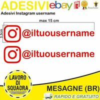 Kit 2 Adesivi Instagram username Nome Divertente Auto Adesivo Style Mood Rosso