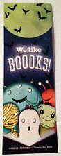 NEW! 24 WE LIKE BOOKS! HALLOWEEN GOBLIN BOOKMARKS PARTY FAVORS CLASSROOM REWARDS