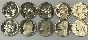 1968-1977 S Jefferson Nickel Gem Proof 10 Coin Run Set