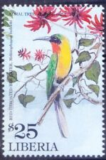 Liberia 2001 MNH, Red-throated Bee-eater, Birds