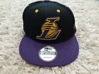 Los Angeles Lakers New Era 9Fifty Basic Black 2 Tone Adjustable Snapback Hat Cap