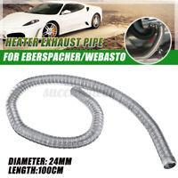 100cm 24mm Stainless Steel Air Diesel Exhaust Pipe Cap For Eberspacher Heater