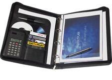 Genie Exclusiv A4 Schreibmappe mit Ringbuch Taschenrechner Reißverschluss In
